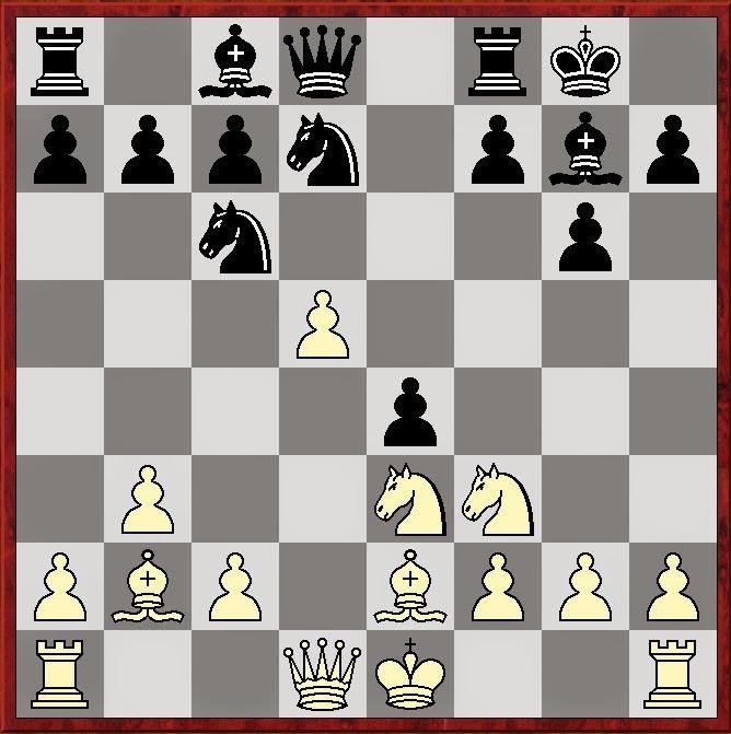 Stelling na 11... e5-e4