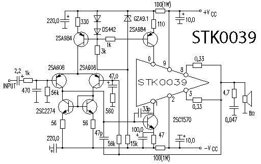 Stk Ic Subwoofer Amplifier Circuit Nerv