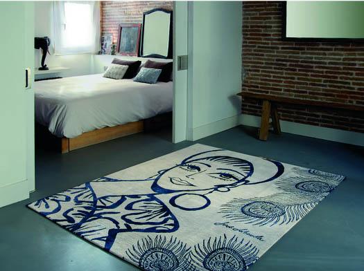 alfombra con un diseño de Jordi Labanda