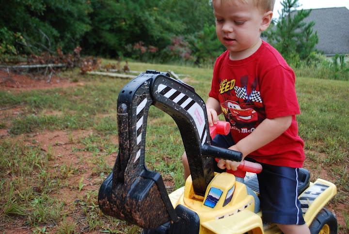 Isaac excavating
