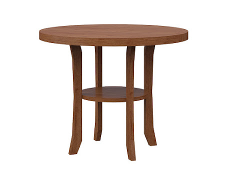 Round Kyoto End Table in Itasca Maple