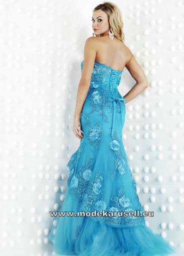hell blaues abendkleid lang mit blumen kleider online. Black Bedroom Furniture Sets. Home Design Ideas