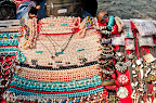 Beach sellers with handmade necklaces and bracelets