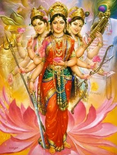 The Triple Goddes Shakti Image