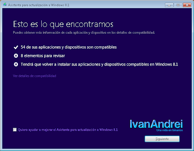 Asistente de actualización de Windows 8.1