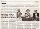 """Periódico Melilla Hoy: Presentación de """"Versos a la Naturaleza"""" de Carmen Carrasco. Octubre 2011"""
