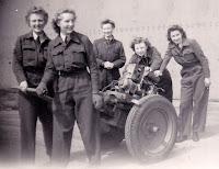 Abingdon 1946, Trolley acc in Hanger, Ellen, Muriel, Kay, Dot & Beryl
