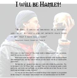 I Will Be Hamlet!- Martin Van Houtte
