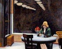 Edward Hopper (EEUU 1882-1967) Mujer tomando café