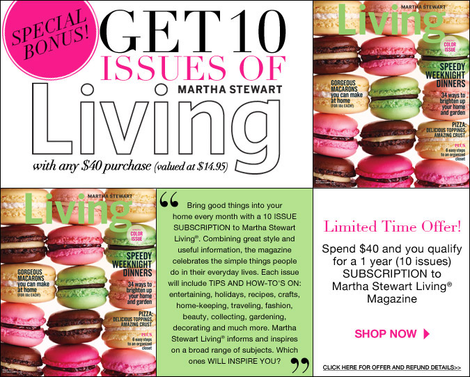 FREE Martha Stewart Living Magazine Subscription