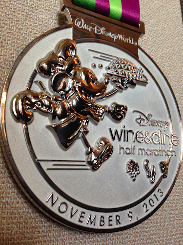 2013 Wine and Dine Half Marathon medal