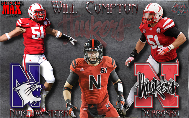 Nebraska Vs Northwestern  Featuring Will Compton Gameday Wallpaper