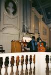 Mariangeles Sánchez Benimeli with organist Anke Meyer