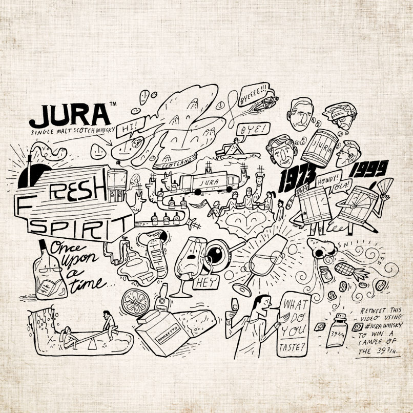 See This Artist Draw The Taste Of Jura 39 ¾ 40-Year Old Whisky