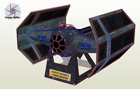 Darth Vader Tie Fighter Papercraft