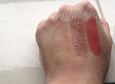 Famous cosmetics swatches