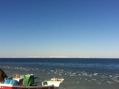 海岸に寄せる氷