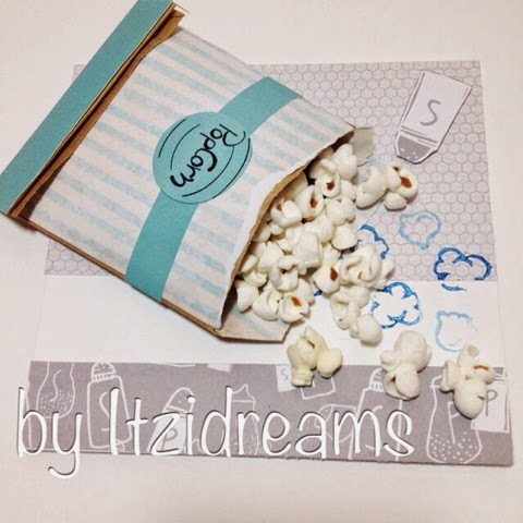 Palomitas, tarjetas, Diy, tutorial, cine, scrap, scrapbooking,