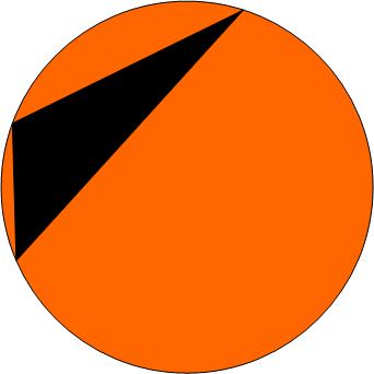 Круг и треугольник