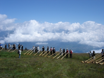 Festival Cor des Alpes - Nendaz 2007 - Avant le morceau d'ensemble