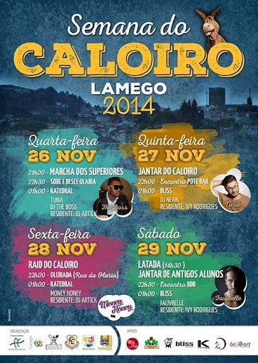 Programa - Semana do Caloiro - Lamego - 2014