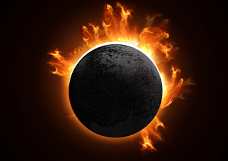Imagen del Sol eclipsado