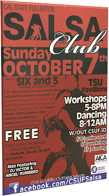 Six and 3 (Six Salsa Workshops in 3 Hours)