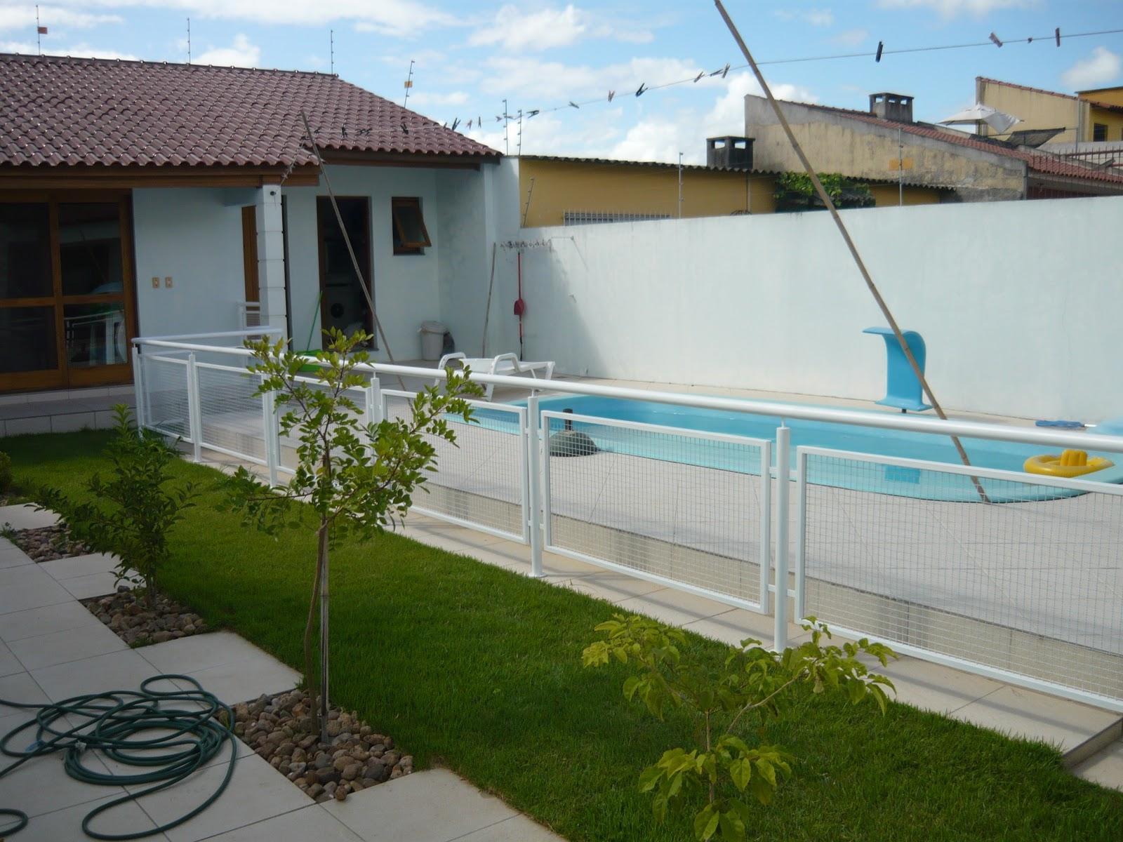 Samfel serralheria guarda corpo piscina for Piscinas de aluminio