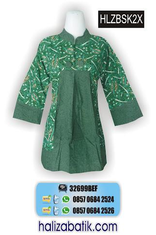 HLZBSK2X Blus Batik Terbaru, Model Baju Batik, Baju Blus, HLZBSK2X