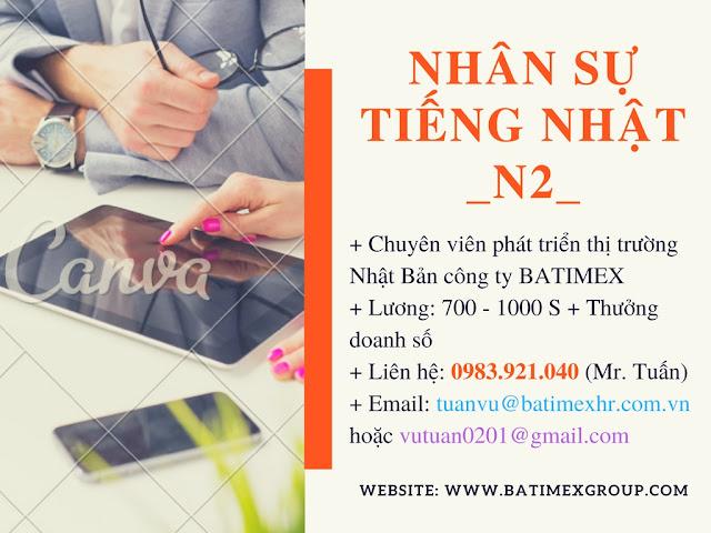 Tuyển nhân viên phát triển thị trường Nhật Bản làm việc tại Batimex Hà Nội