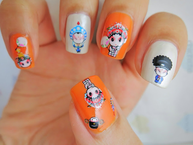 Chinese Opera Water Decal Nail Art BOP101