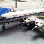 Plastikmodell eines Zivilflugzeugs