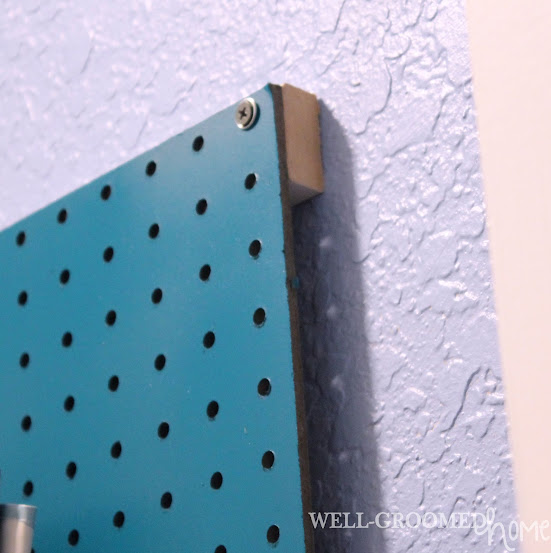laundry room peg board