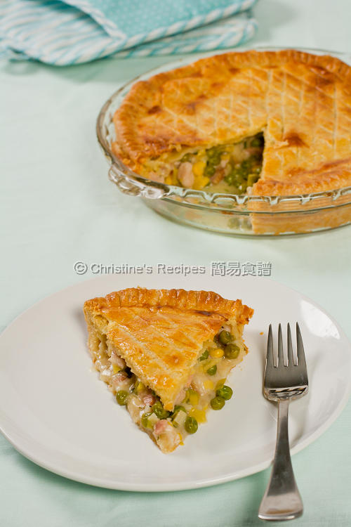 Chicken, Leek and Pea Pie01