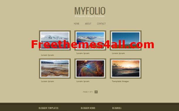 Free Blogger Portfolio Gallery Theme Template