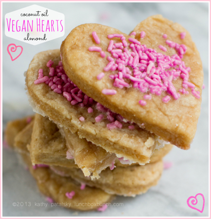 Valentine S Day Heart Sugar Cookies Almond Coconut Oil Vegan Recipe