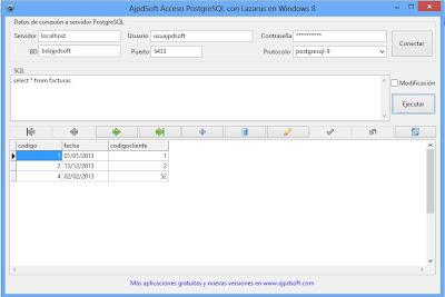 Desarrollar aplación con acceso a PostgreSQL x64 con Lazarus en Windows 8