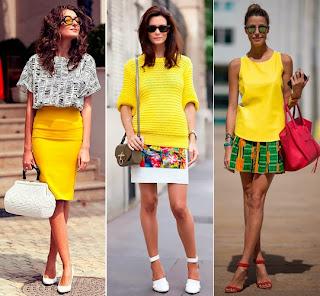como usar amarelo