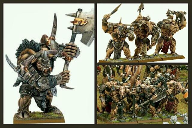 Minotauros plastico Warhammer Fantasy