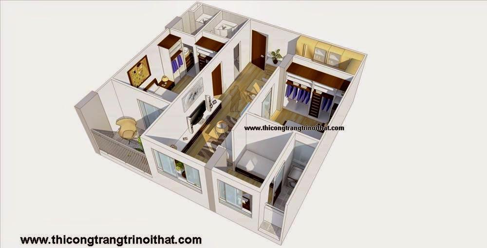 Thi công trang trí nội thất căn hộ quận 12