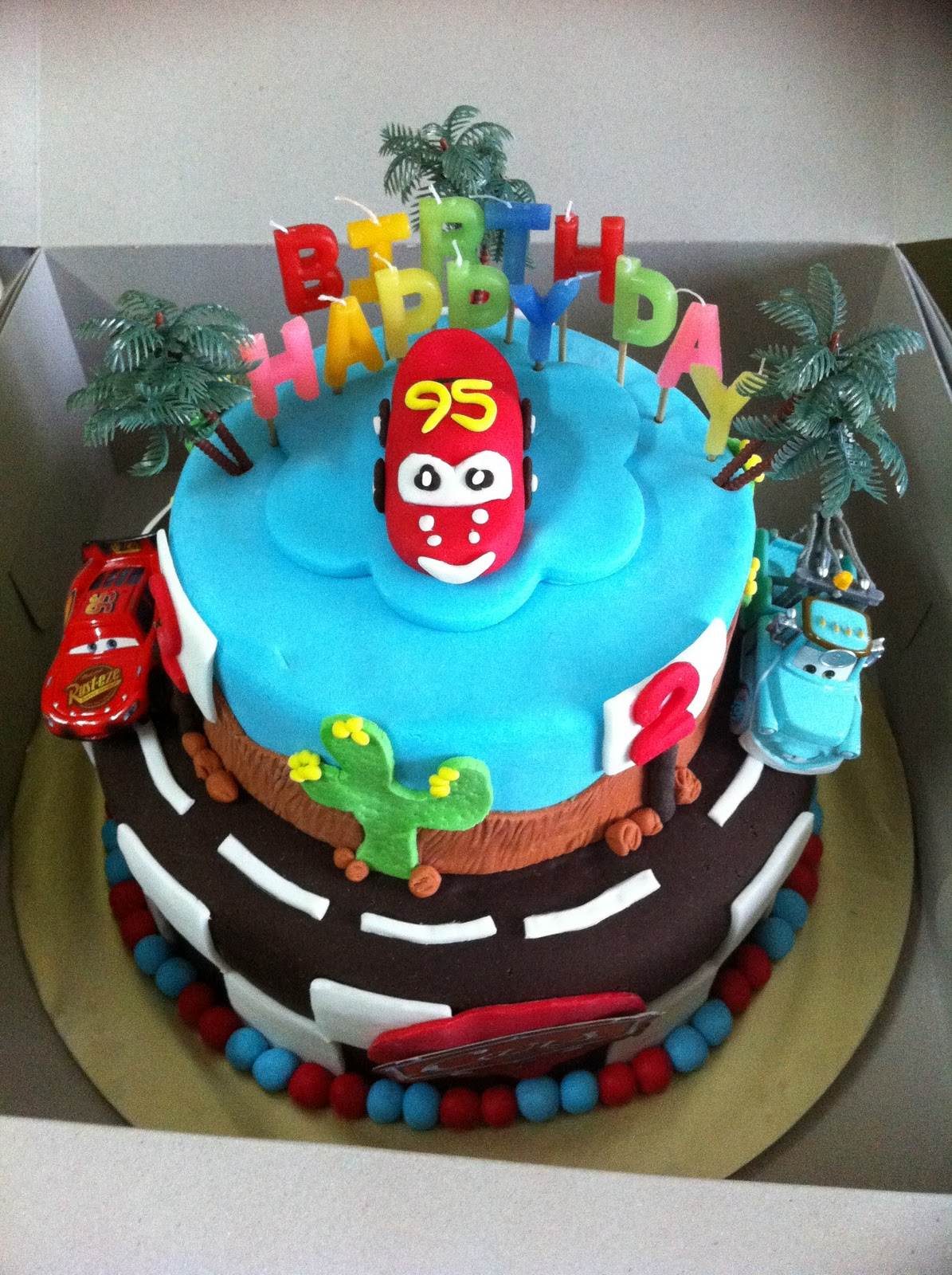 IreneBakelove2: 3D McQueen Cars Birthday Cake & Fruit Tartlets for ...