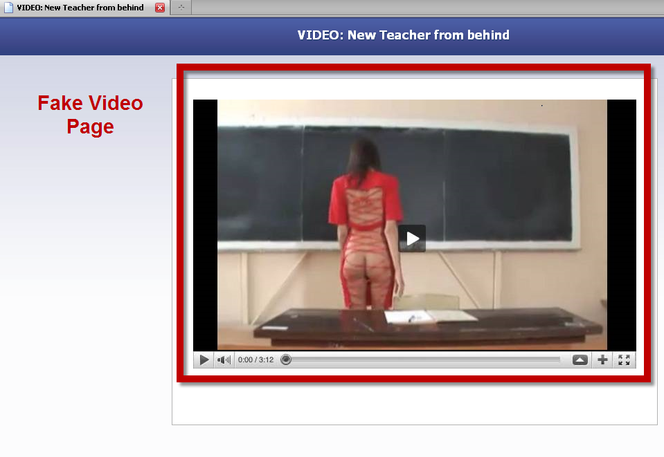 ScamSniper Shared : Fake VIDEO: New Teacher from behind, omg | The ...