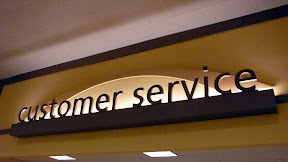 Customer service sign