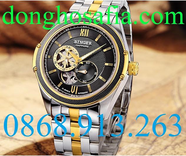 Đồng hồ nam cơ Binger B1165G BG012