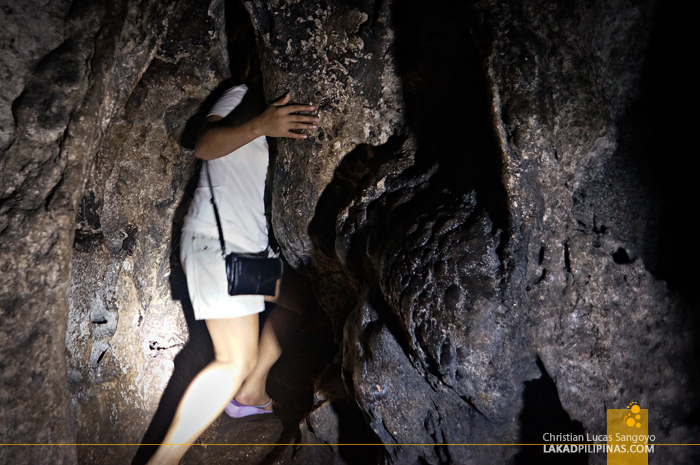 Squeezing in to Tight Spaces at Hoyop-Hoyopan Cave in Camalig, Albay