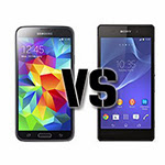 Xperia Z2 vs Galaxy S5 Xperia Z2 vs Galaxy S5