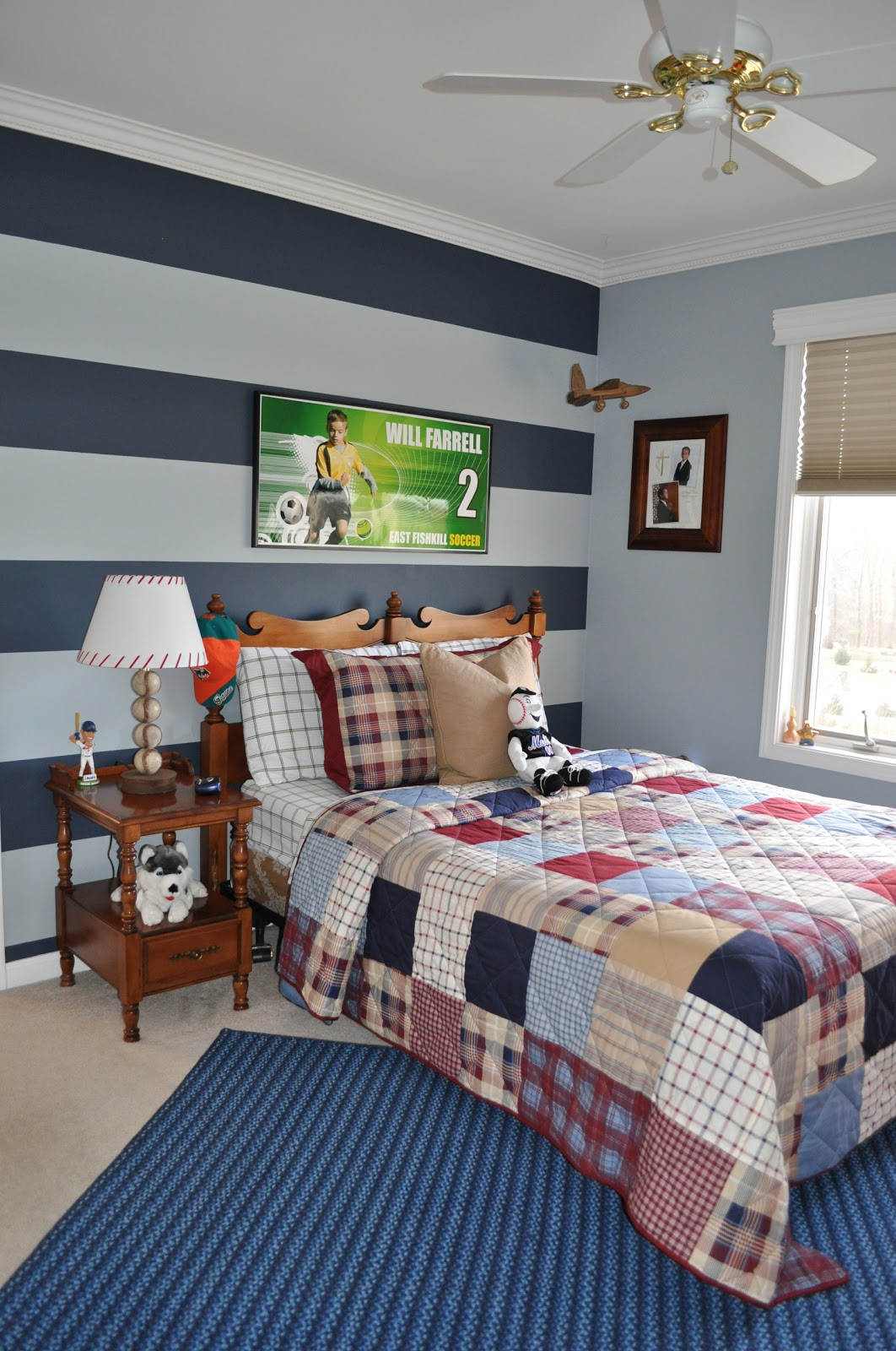 3 Room Hdb Accent Wall: Northern Nesting: Striped Accent Wall