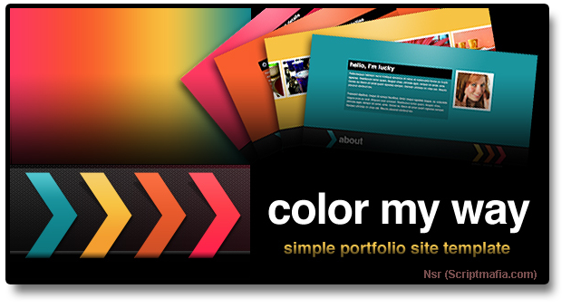 Themeforest Color My Way – Simple Portfolio Site Template