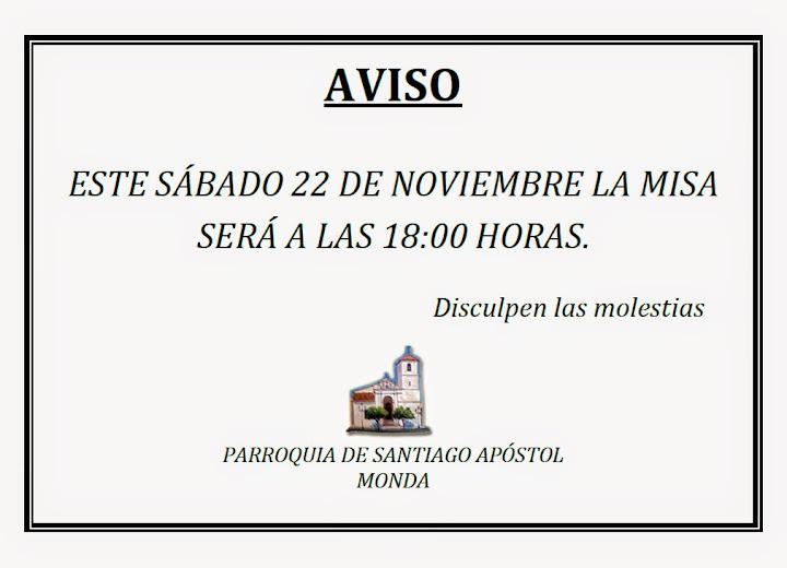 Misa 22 de noviembre