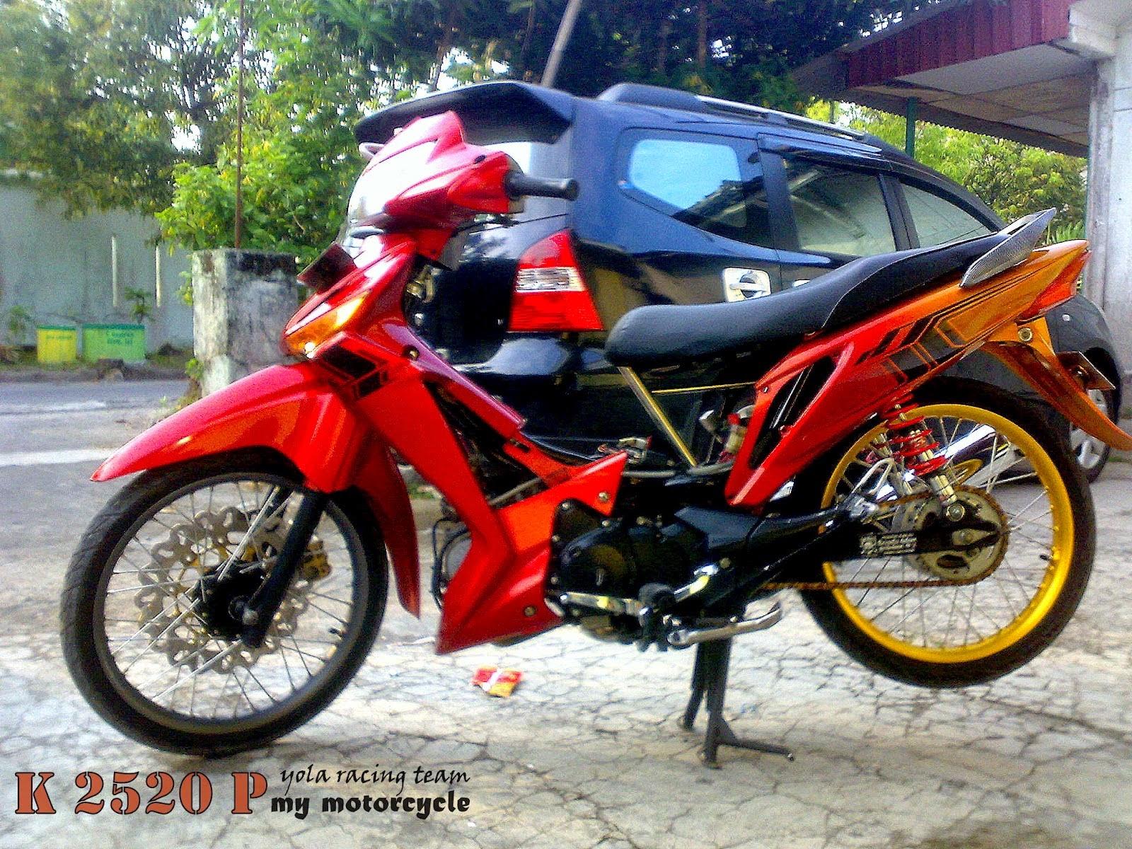 Supra X 125 Modifikasi Warna